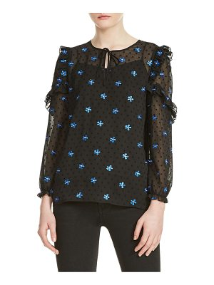 Maje floral embroidered top