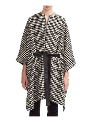 Maje giro houndstooth cape coat