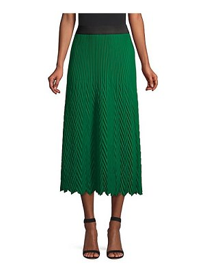 Maje herringbone pleated midi skirt