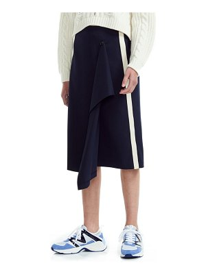Maje jidaia side stripe asymmetrical skirt