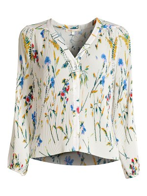 Maje larcy floral pleated blouse