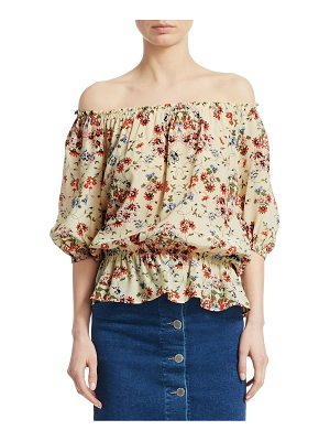 Maje lucky floral silk blouse