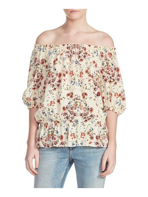 Maje lucky floral silk top