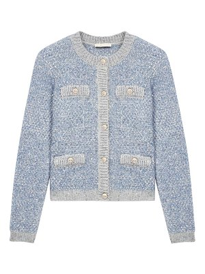 Maje mission long-sleeved sequin cardigan