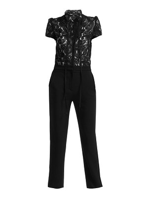 Maje palilo paisley lace two-in-one jumpsuit