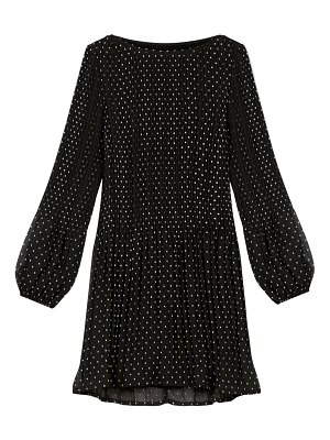 Maje rockito pleated polka dot mini dress