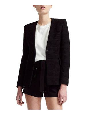 Maje varlo tweed cotton blazer