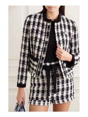 Maje vicky houndstooth cotton-blend tweed jacket
