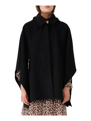 Maje wool & cashmere blend hooded cape coat
