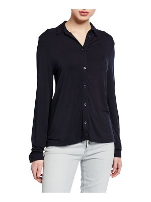 Majestic Button-Down Long-Sleeve Top