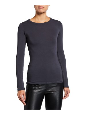 Majestic Filatures Ally Soft Touch Long-Sleeve Crewneck Tee