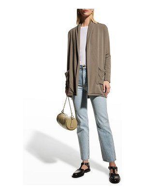 Majestic Filatures French Terry Open Cardigan w/ Pockets