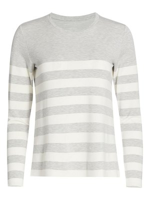 Majestic Filatures french terry striped crewneck top