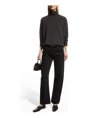 Majestic Filatures Semi-Relaxed French-Terry Turtleneck
