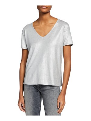 Majestic Filatures Soft Touch Metallic V-Neck T-Shirt