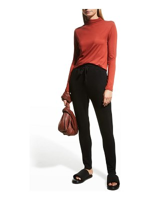 Majestic Filatures Soft Touch Mock-Neck Semi-Relaxed Tee