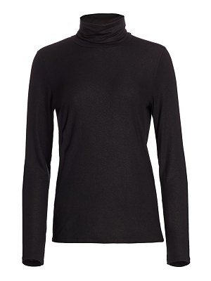 Majestic Filatures soft touch metallic turtleneck sweater