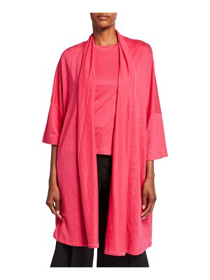 Majestic Filatures Stretch Linen Relaxed Open Cardigan