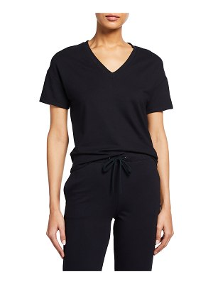 Majestic Filatures V-Neck Semi-Relaxed French Terry T-Shirt