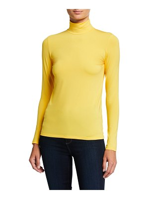 Majestic Fitted Long-Sleeve Turtleneck Top