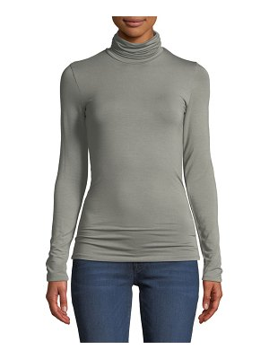 Majestic Paris for Neiman Marcus Amy Soft Touch Long-Sleeve Turtleneck Top