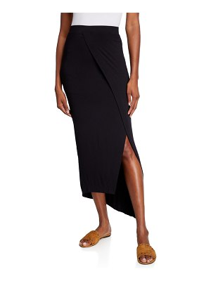 Majestic Paris for Neiman Marcus Asymmetric Drape Skirt