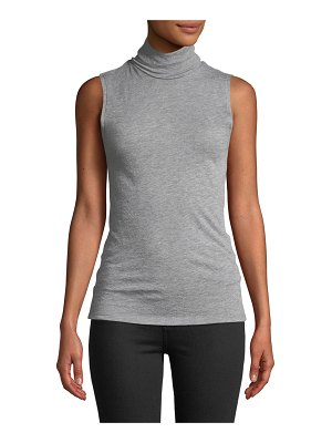 Majestic Paris for Neiman Marcus Cashmere Sleeveless Turtleneck Top