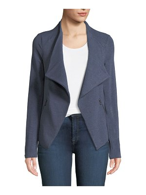 Majestic Paris for Neiman Marcus Draped French Terry Moto Jacket
