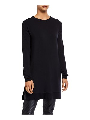 Majestic Paris for Neiman Marcus French Terry Long-Sleeve Crewneck Tunic