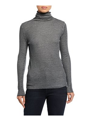 Majestic Paris for Neiman Marcus Funnel Neck Long-Sleeve Tee