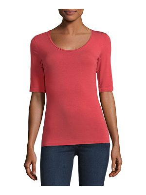 Majestic Paris for Neiman Marcus Half-Sleeve Soft-Touch Top