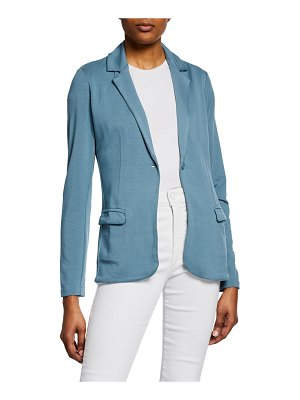 Majestic Paris for Neiman Marcus One-Button Long-Sleeve French-Terry Blazer