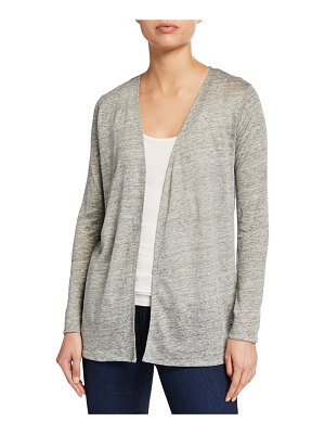 Majestic Paris for Neiman Marcus Open-Front Long-Sleeve Viscose Cardigan
