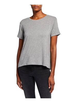 Majestic Paris for Neiman Marcus Oversized Short-Sleeve Heathered Crewneck Tee