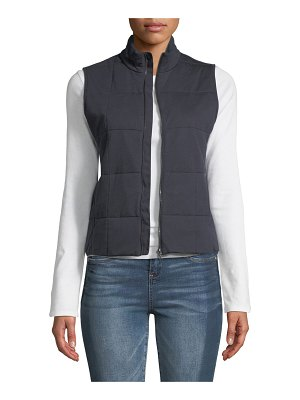 Majestic Paris for Neiman Marcus Quilted Zip-Front Vest