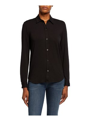 Majestic Paris for Neiman Marcus Soft Touch Long-Sleeve Button-Front Collared Shirt