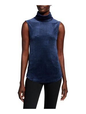 Majestic Paris for Neiman Marcus Velour Long-Sleeve Turtleneck Tee
