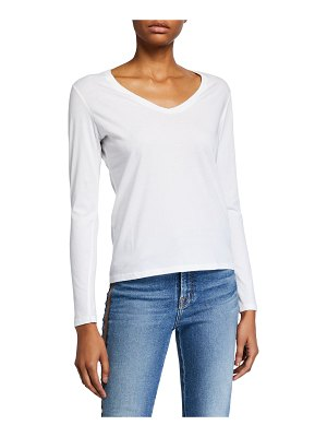Majestic V-Neck Long-Sleeve Silk Touch Cotton Top