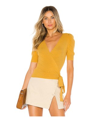 MAJORELLE Ginette Wrap Sweater