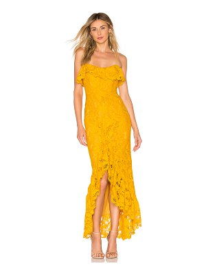 MAJORELLE Rose Water Lace Gown