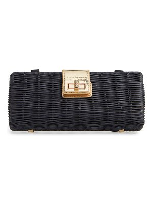 Mali + Lili becca rattan shoulder bag