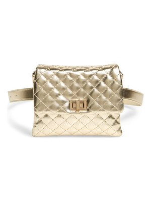Mali + Lili metallic vegan leather belt bag