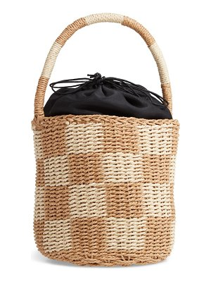 MALIBU SKYE small woven drawstring bucket bag