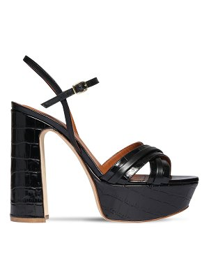 Malone Souliers 125mm croc embossed leather sandals