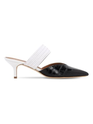 Malone Souliers 45mm croc embossed leather mules