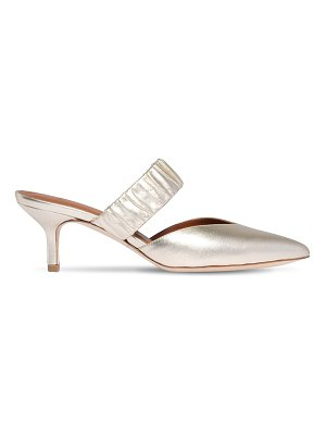 Malone Souliers 45mm metallic leather mules