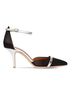 Malone Souliers 85mm booboo leather & satin pumps