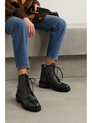 Malone Souliers bryce 30 patent-trimmed leather ankle boots