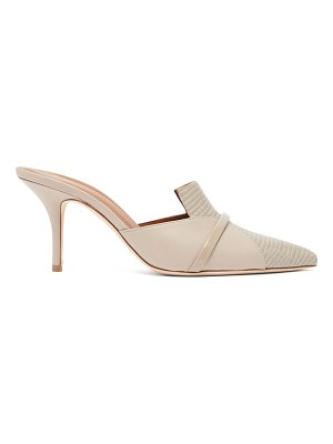 Malone Souliers dale panelled lizard effect leather mules