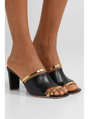 Malone Souliers demi 70 metallic-trimmed leather mules